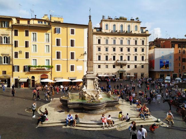 pantheon roma fontana praca rotonda - O Pantheon de Roma