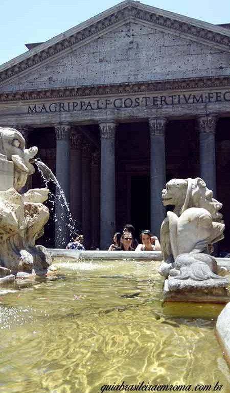 Pantheon Roma em português, centro histórico de Roma com guia em português