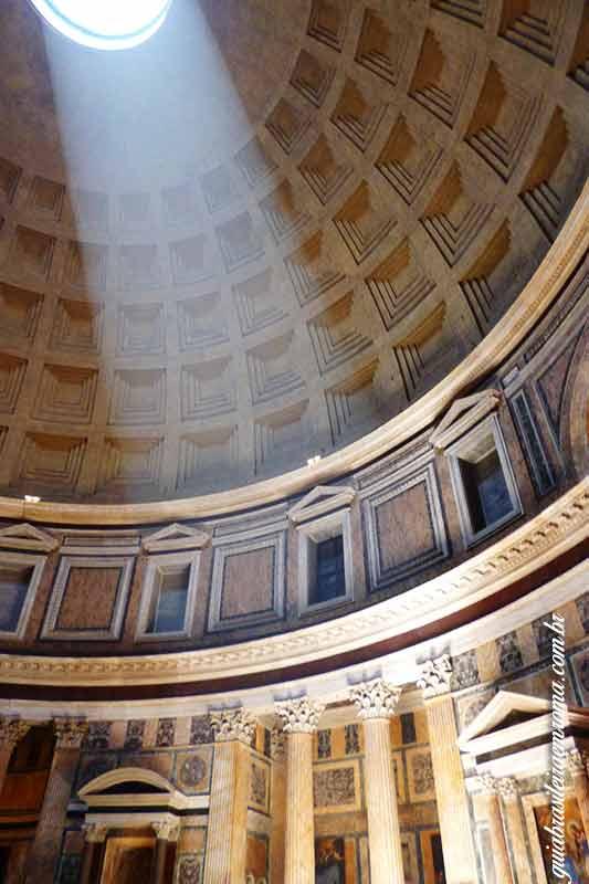 pantheon interior tour guia brasileira - O Pantheon de Roma