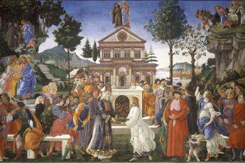 Tentações de Cristo, Botticelli, parede da Capela Sistina