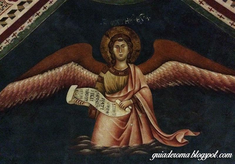 mosteiro sao bento afresco anjo  - Visitar o Mosteiro de São Bento