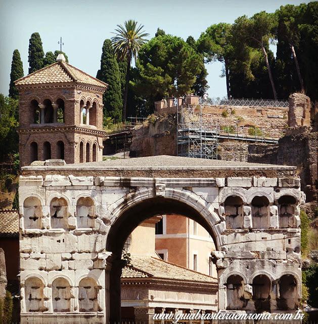 arredores basilica sao jorge velabro roma guia portugues - A basílica de São Jorge al Velabro em Roma