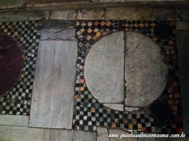 pavimento cosmatesco igreja sao jorge velabro guia portugues - A basílica de São Jorge al Velabro em Roma