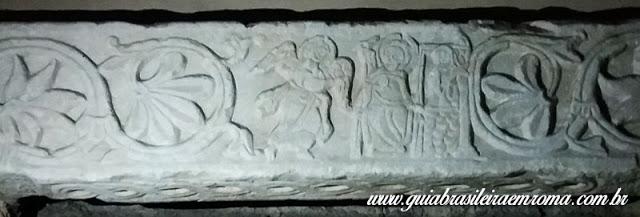 relevo anunciaca zacarias sao jorge velabro roma guia portugues - A basílica de São Jorge al Velabro em Roma