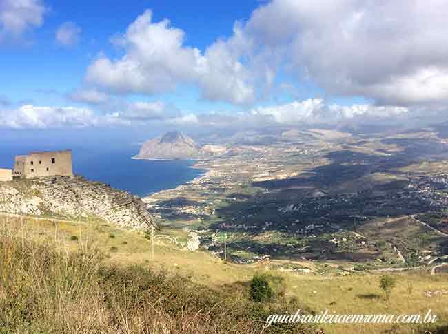 erice vista quartieri spagnoli guia brasileira - Erice, na Sicília