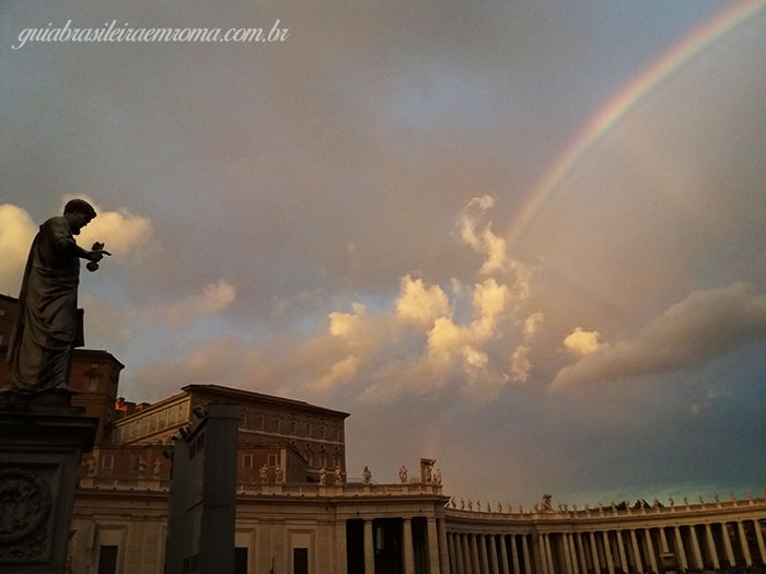 praca sao pedro arcoiris guiabrasileira roma - Roma em Dezembro 2017