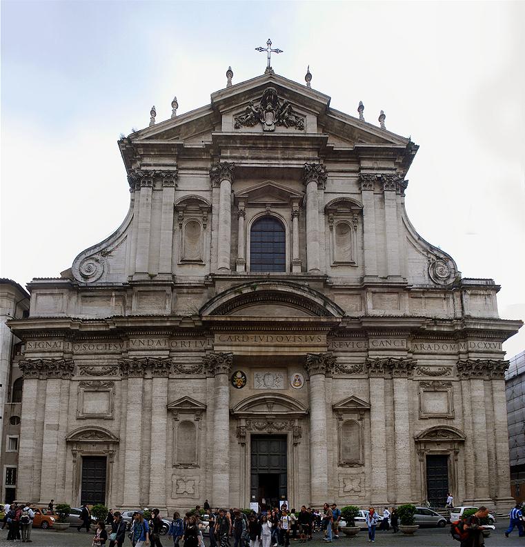 Santo Inácio fachada Roma - A igreja Santo Inácio
