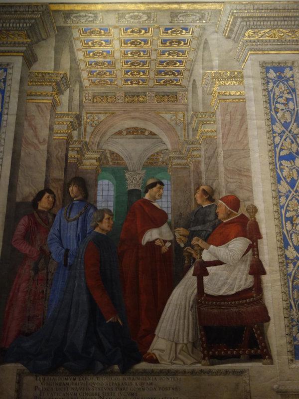pinacoteca vaticana melozzo papa JulioII guia brasileira - Visita guiada aos Museus Vaticanos: a Pinacoteca