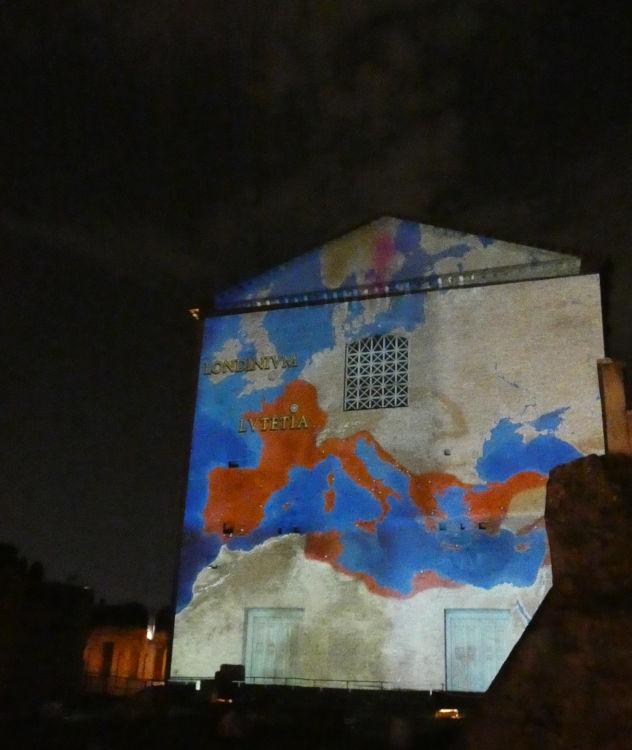 forum cesar projecao curia guia brasileira - Visitar o Fórum Romano de noite