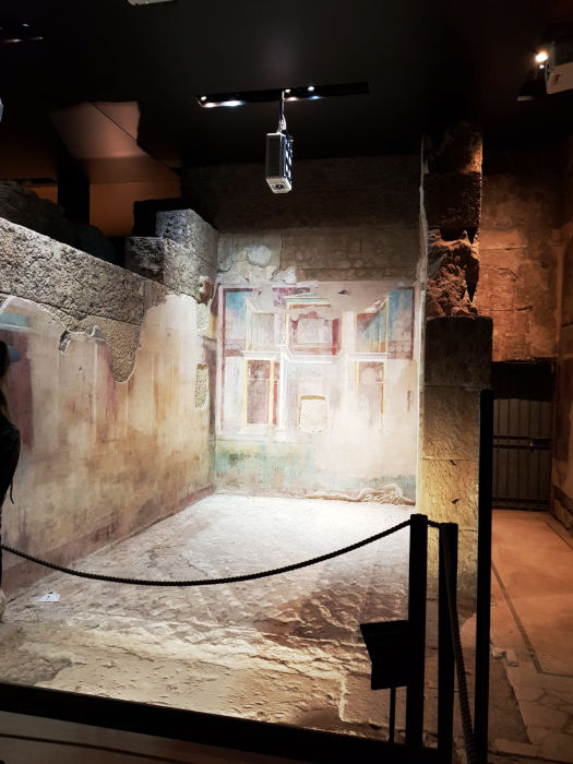 ambiente subterrãneos palatino mansao augusto - Subterrâneos do Palatino