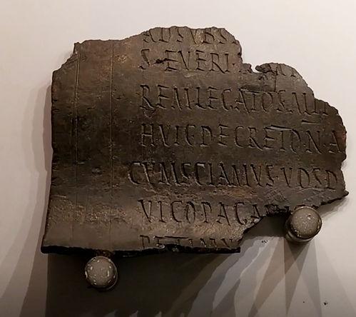 lastra decreto imperial bronze termas diocleciano - Museu das Termas de Diocleciano