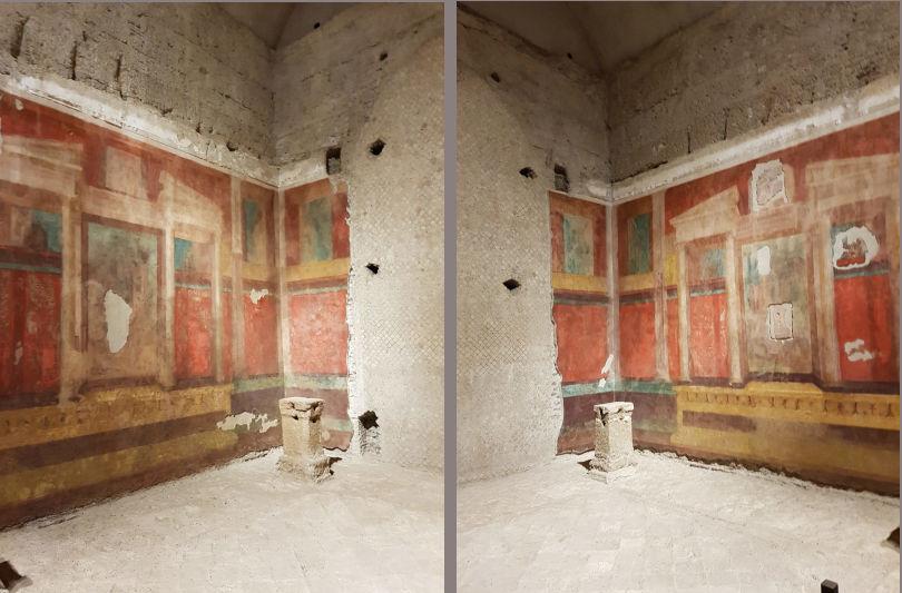 subterraneo palatino afrescos mansao augusto - Subterrâneos do Palatino