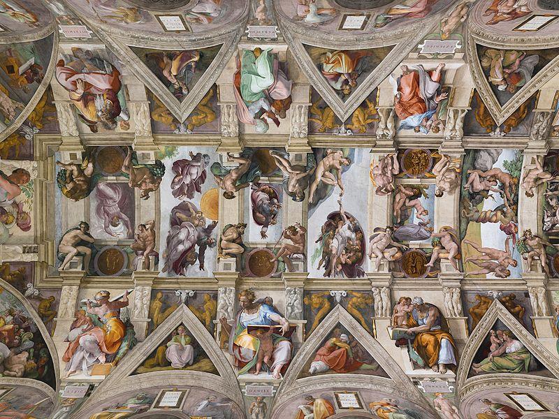 teto capela sistina vaticano guia portugues - Passeios no Vaticano